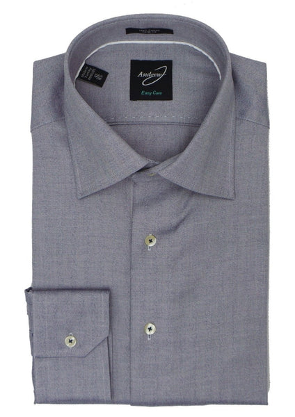 Andrew-J Stockholm Trim Fit Herringbone Woven Subtle Stripe Dress Shirt