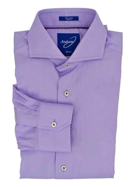 Andrew-J Azzurro Monza Trim Fit Dress Shirt
