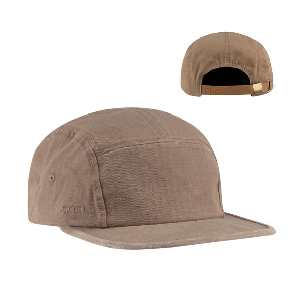 Coal Edison Washed Herringbone 5-Panel Cotton Flat Cap