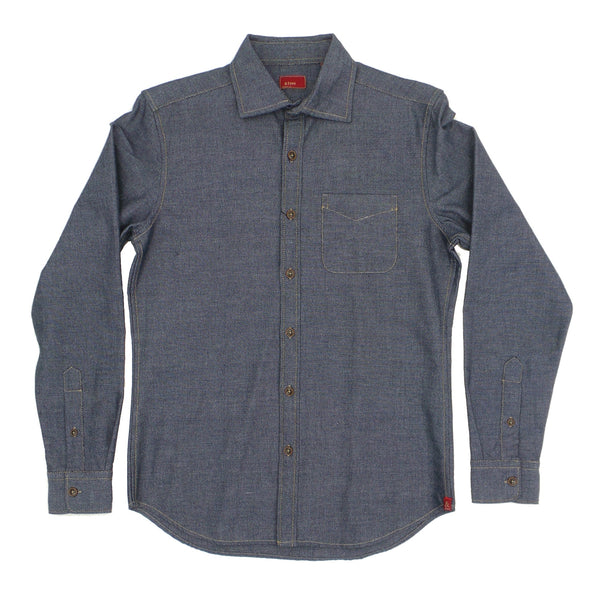 & Sons Garment Co. Midweight Jaspe Textured Cotton LS Shirt