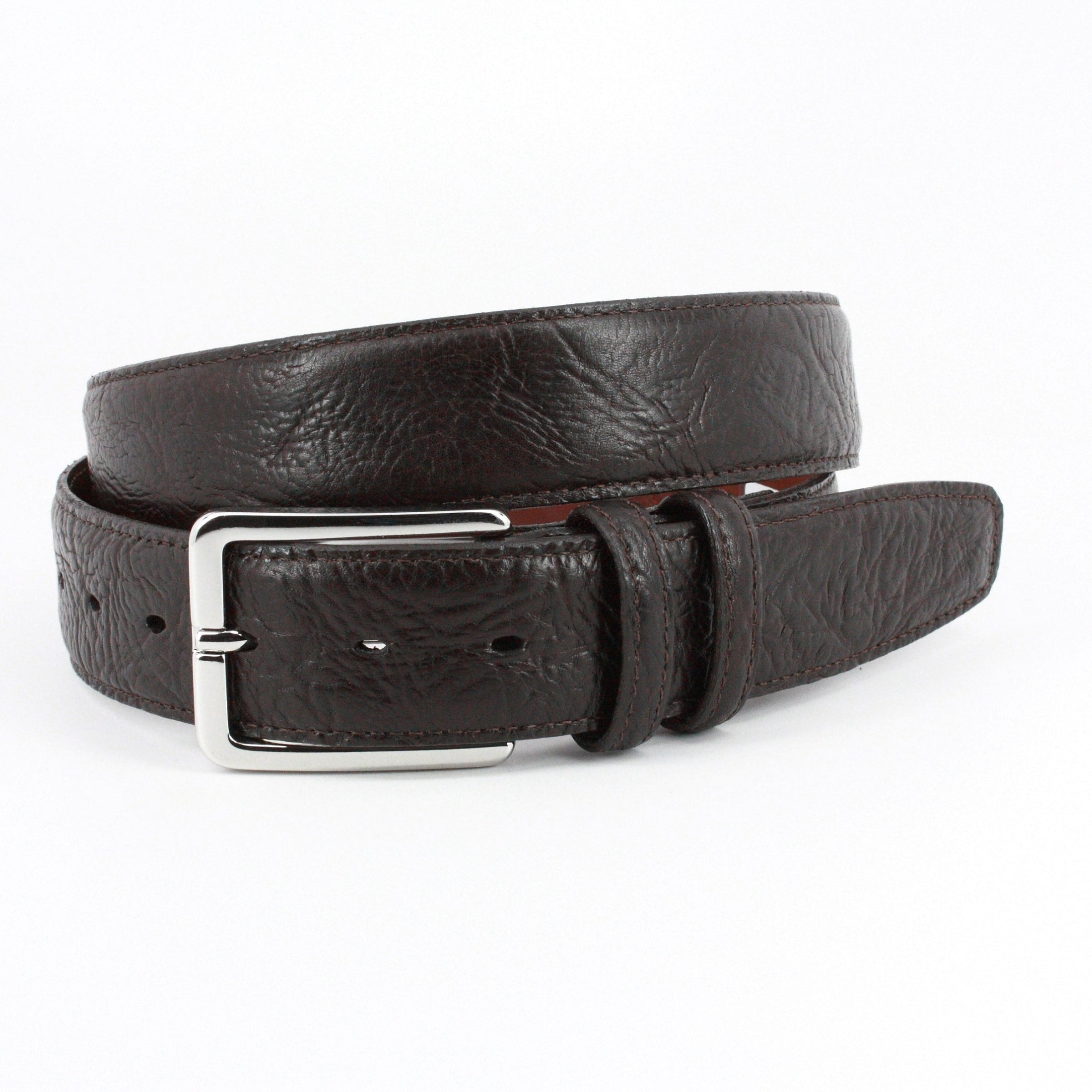 Torino Burnished Shrunken Bull Leather Belt