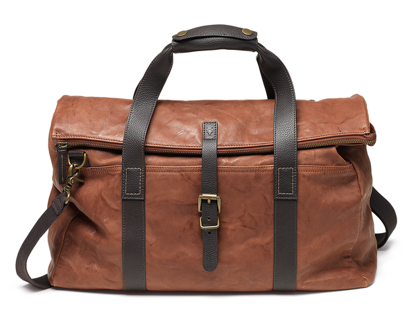 Trask Lincoln Italian Washed Sheepskin Foldover Duffel