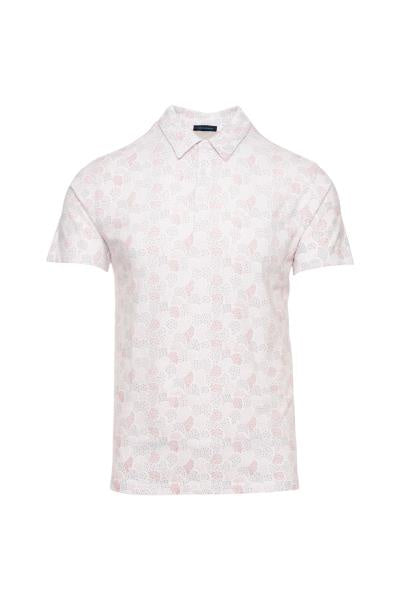 PYA Pima Cotton Stretch Print Pattern SS Polo
