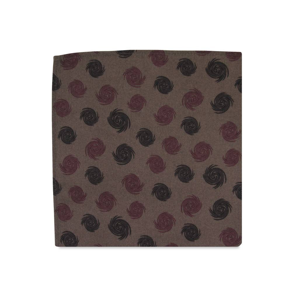 PSC Bailey Swirl Geo Pattern Pocket Square