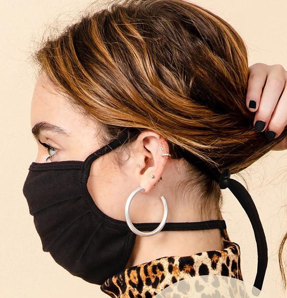 Stretch Cotton Mask with Headloops