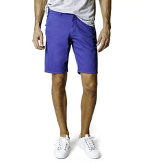 Good Man Brand Wrap Mirco Dot Textured Print Cotton Shorts