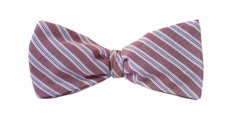 ZB Savoy Made in California Washington Striped Bowtie