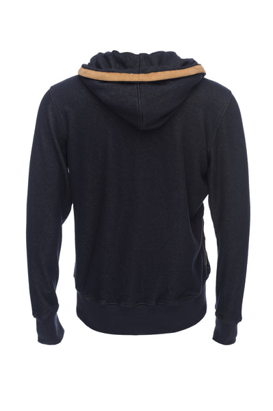 Nifty Genius Indigo Fabric Soft Knit Velour Interior Hoodie