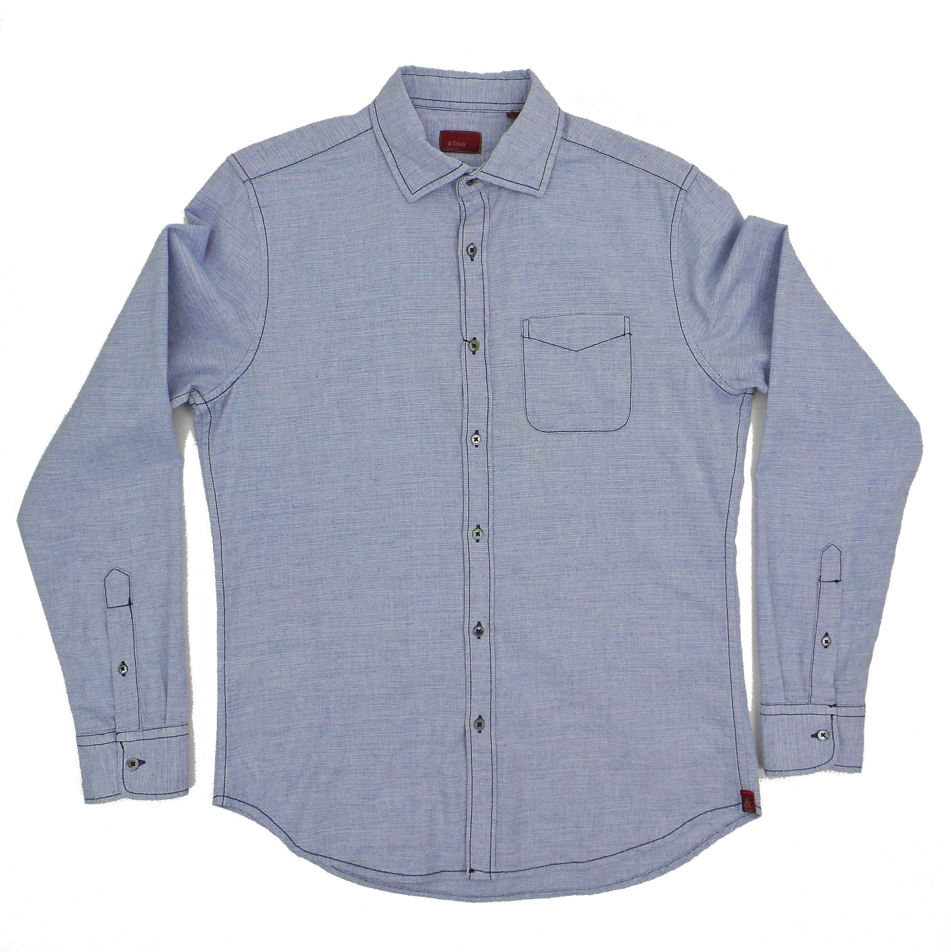 & Sons Garment Co. Heather Weave Soft Wash Shirt