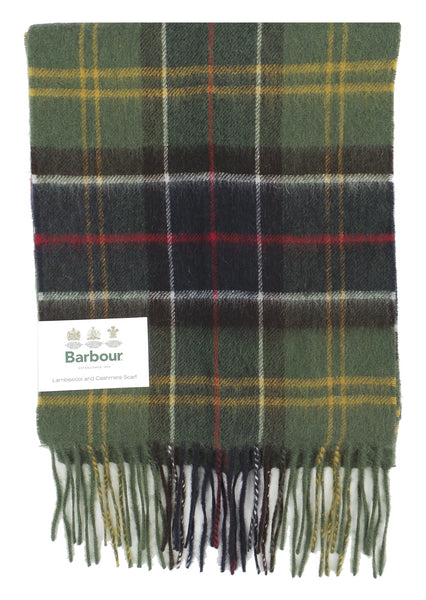 Barbour Lambswool and Cashmere Soft Tartan Scarf