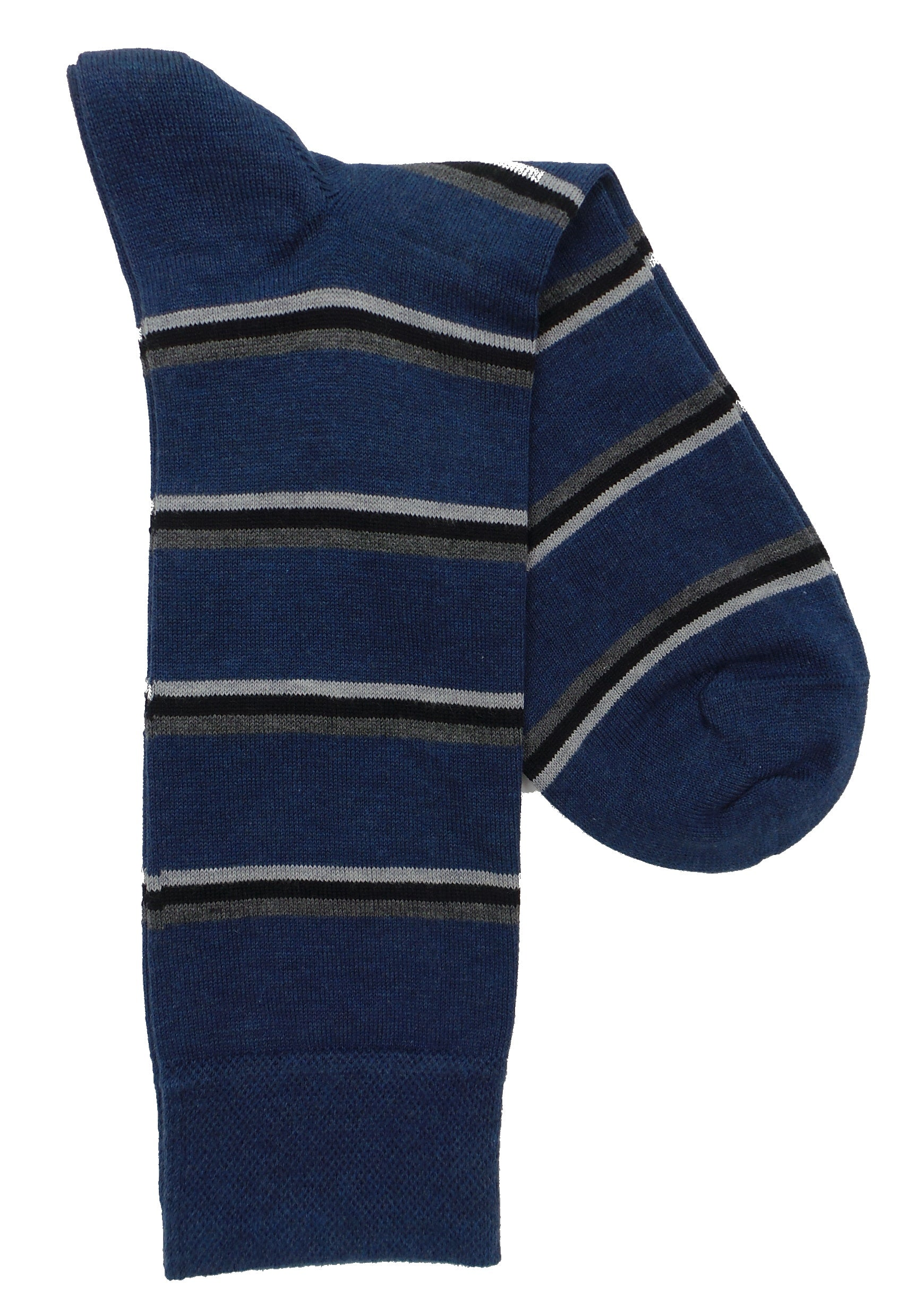Marcoliani 4404 Pima Cotton Easy Stripe Dress Socks
