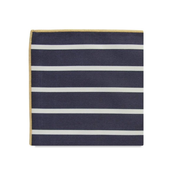 PSC Charles Bold Stripe Cotton Pocket Square