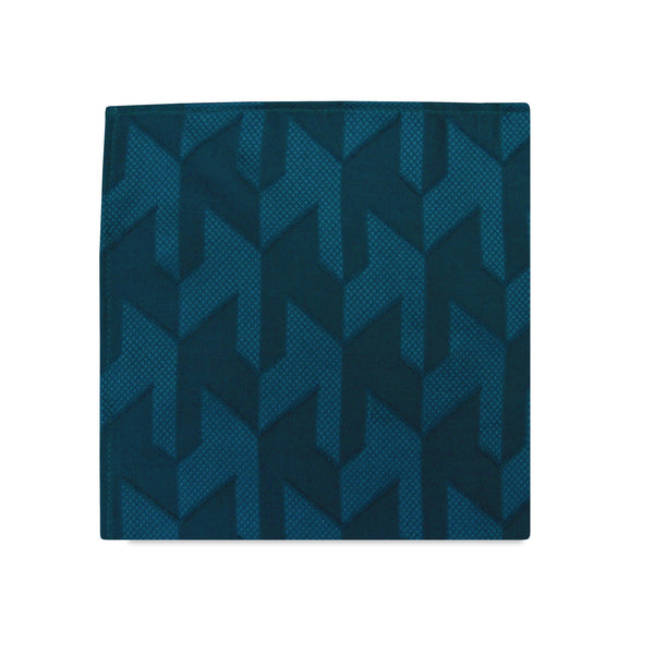 PSC Noah Geometric Textured Chiffon Pocket Square