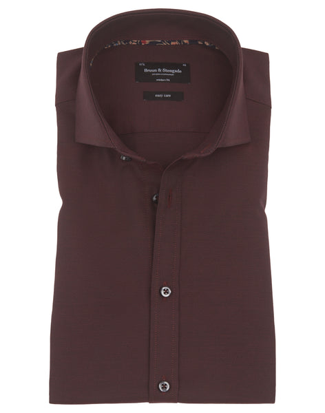 Bruun & Stengade Fellaini Solid Textured Woven Shirt
