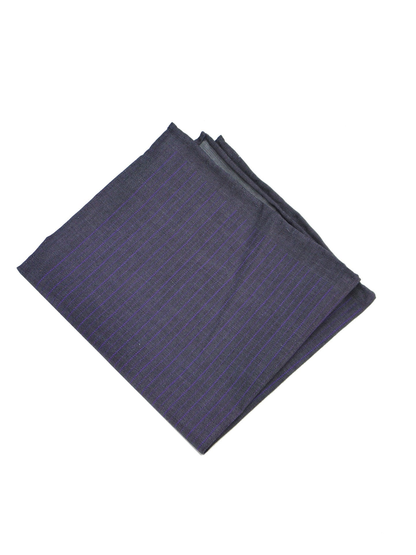 WRK Faint Stripe Purple Chambray Pocket Square
