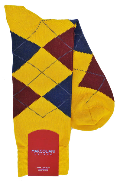 Marcoliani 4333 Pima Cotton Argyle Socks