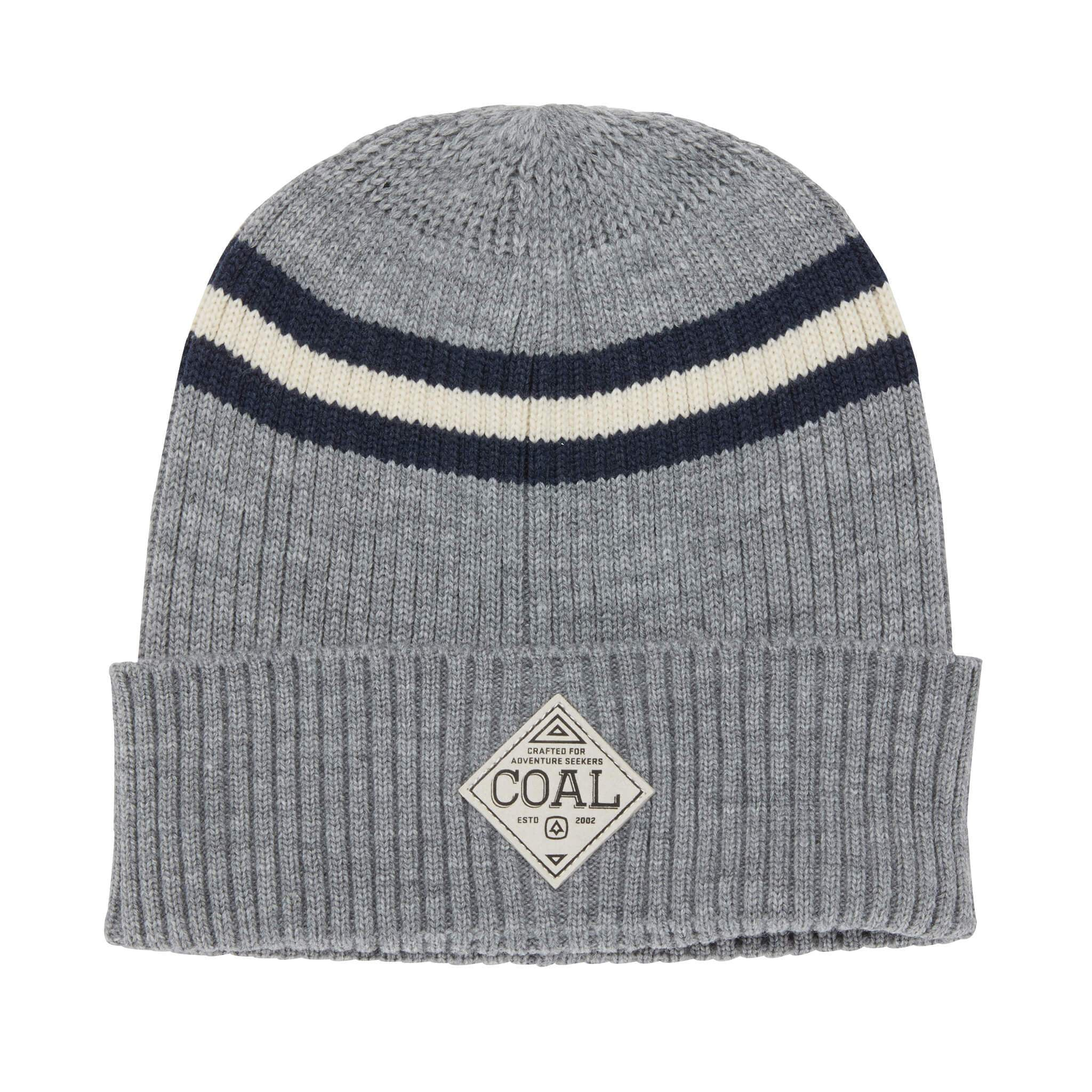 Coal Paxton Striped Rib Knit Beanie