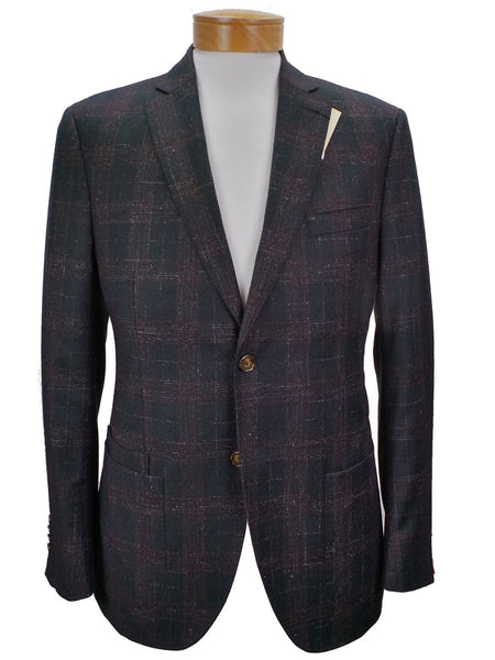 JKT New York Trent Soft Saddle Plaid Wool Blazer