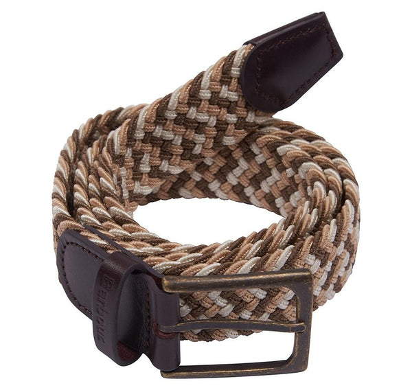 Barbour Ford Stretch Woven Leather Trim Belt