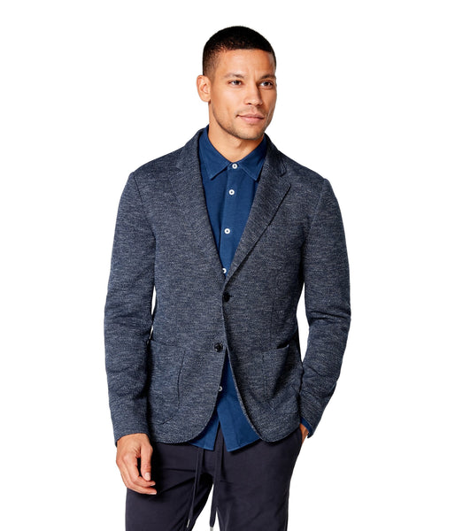 Good Man Brand Textured Birdseye Unstructured Soft Blazer