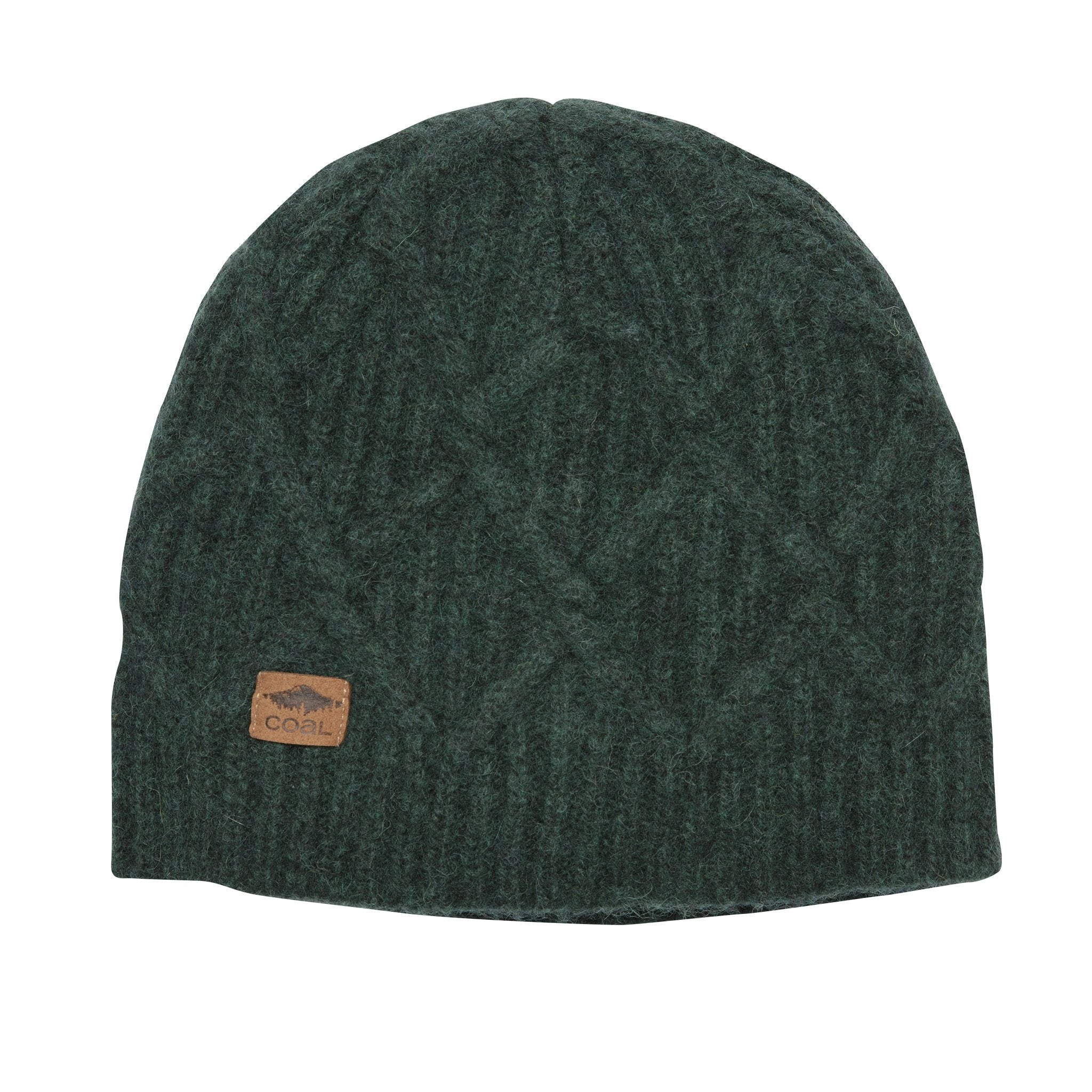 Coal Yukon Cable Knit Wool Patterned Beanie