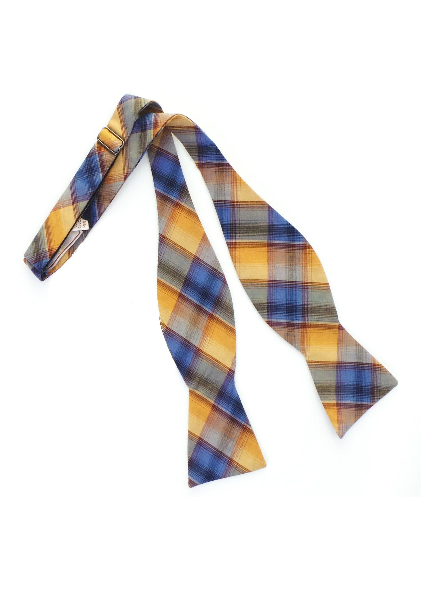 BKLYN Made in NY Cotton Plaid Bow Tie