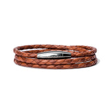 Kenton Michael Triple Wrap Braided Leather Bracelet