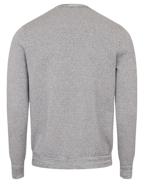 Bruun & Stengaade Conway Cotton Patterned Crew Neck Sweater
