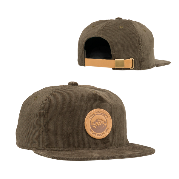 Coal Ned Corduroy Shallow Fit Leather Strap Back Cap