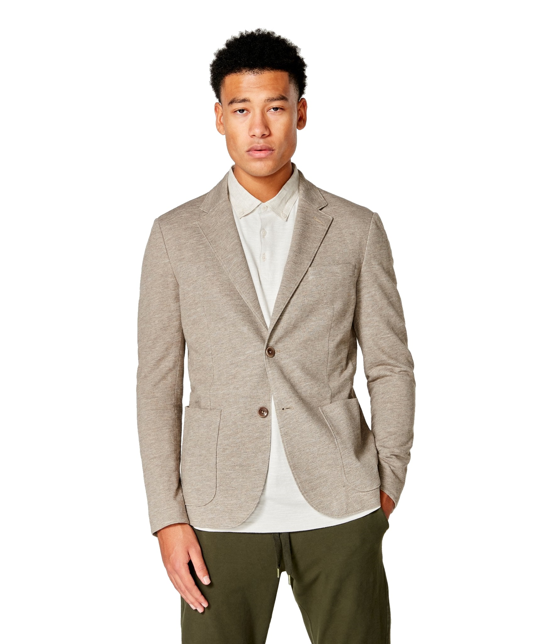 Good Man Brand Textured Cotton Unstructured Soft Blazer