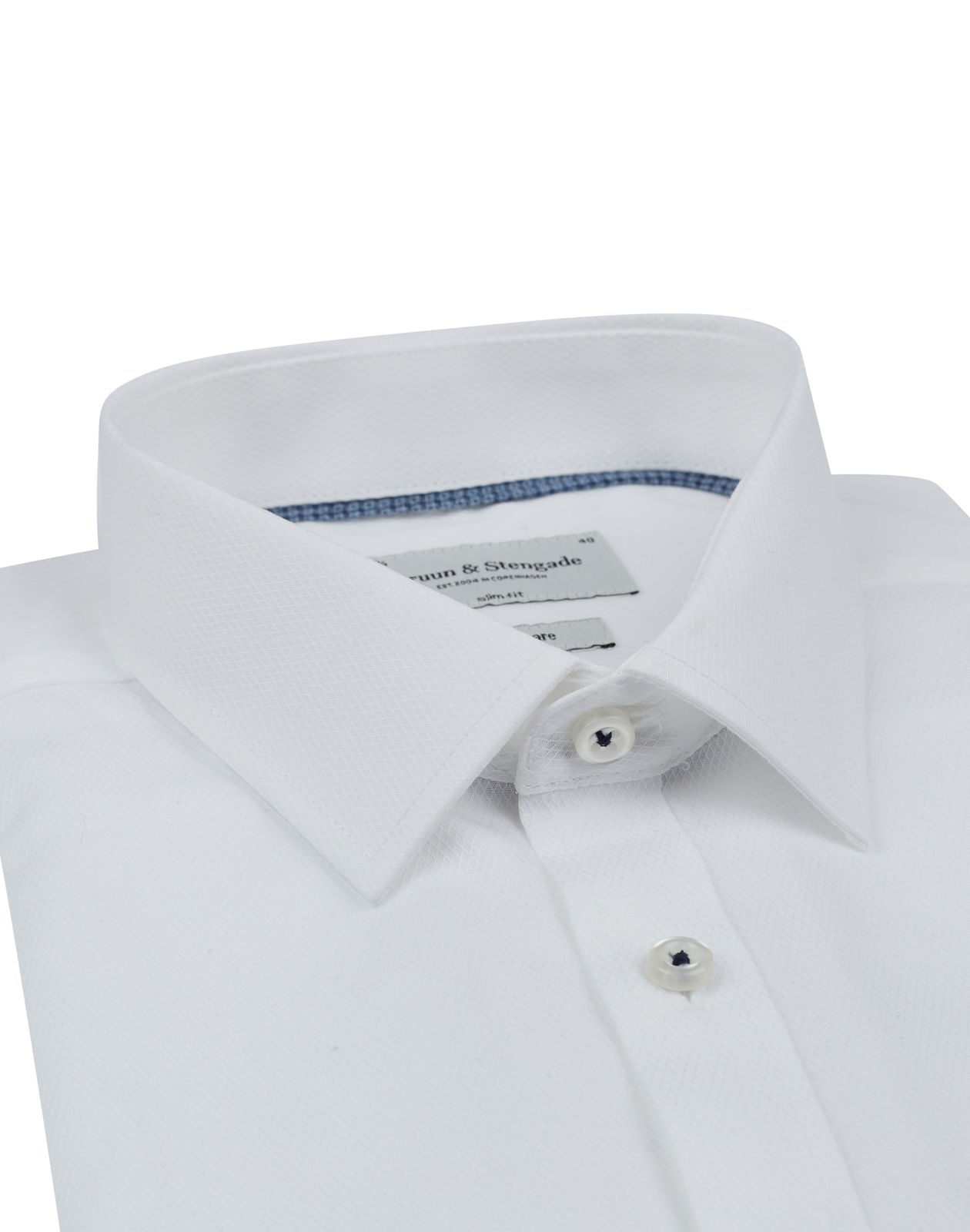 Bruun & Stengade Gary Slim Fit Textured Woven Shirt