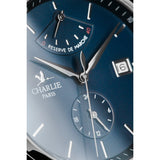 Charlie Paris Initial Power Reserve Blue Miyota 9132 Automatic Watch