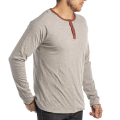 Jeremiah Utley Cotton Long Sleeve Snap Button Reversible Henley