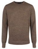 Bruun & Stengade Jupiter Textured Wool Blend Crew Neck Sweater