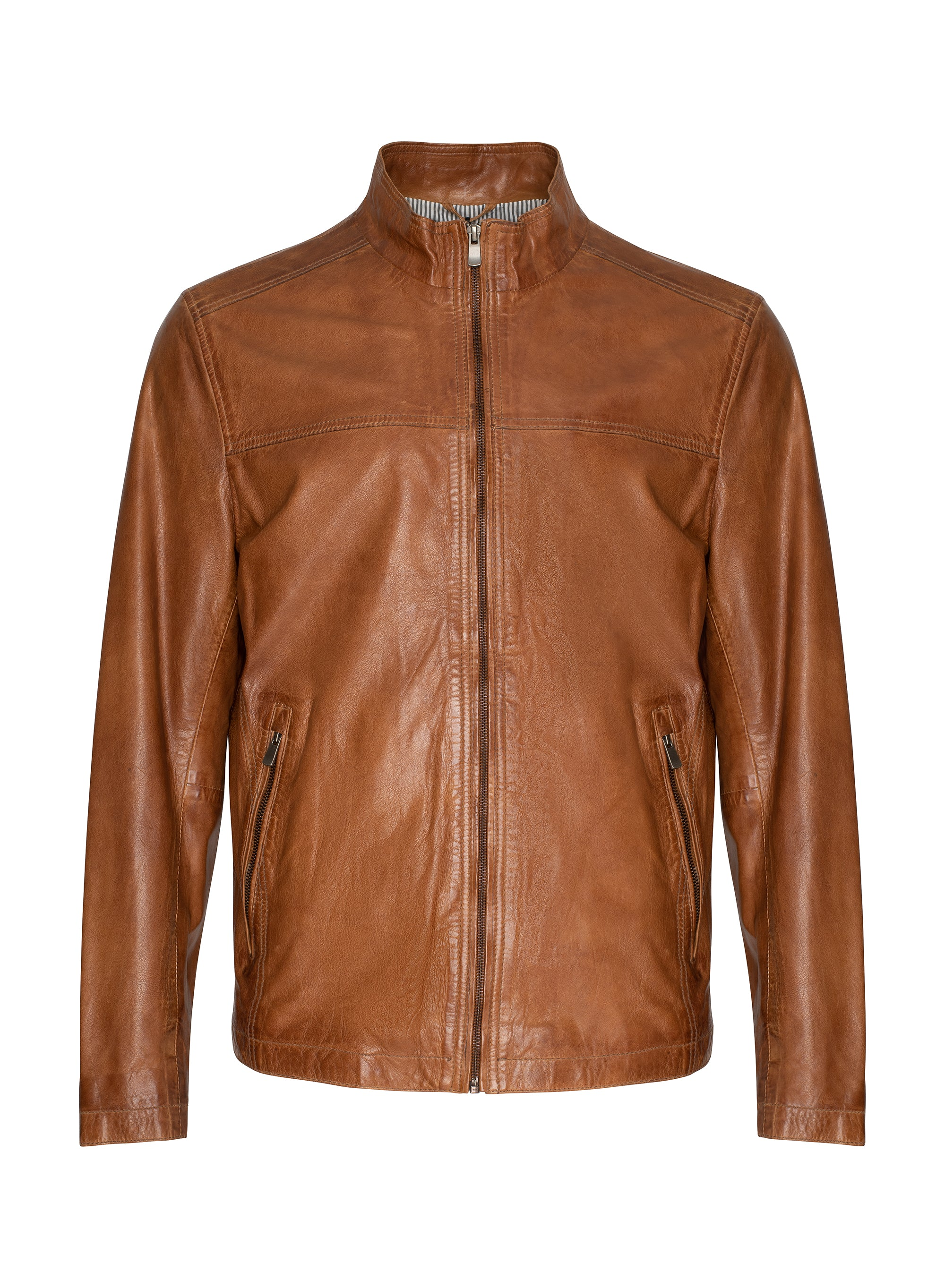 Regency Lucio Soft Lamb Leather Lightweight Bomber Jacket