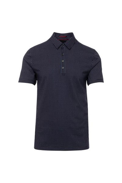 Nove 9 Print Pattern Jersey Cotton SS Polo