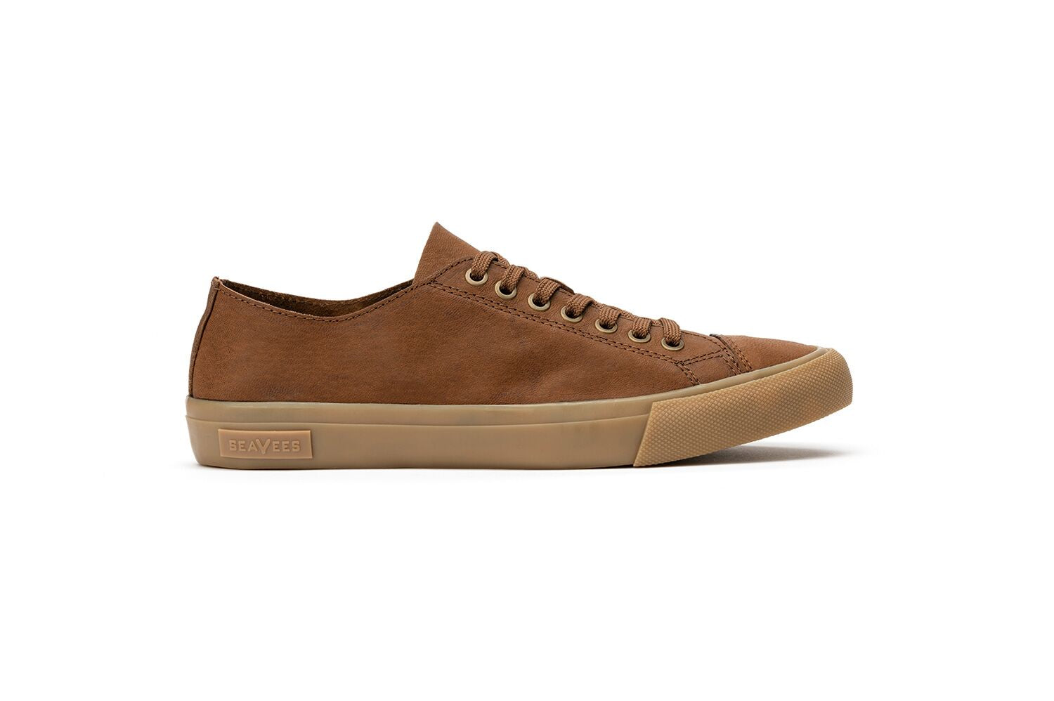 SeaVees Army Issue Low Burnished Leather Sneakers