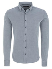 Stone Rose Textured Knit Soft Stretch Modal LS Shirt