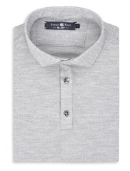 Stone Rose Jacquard Geometric Heather Ultra Soft Knit Polo