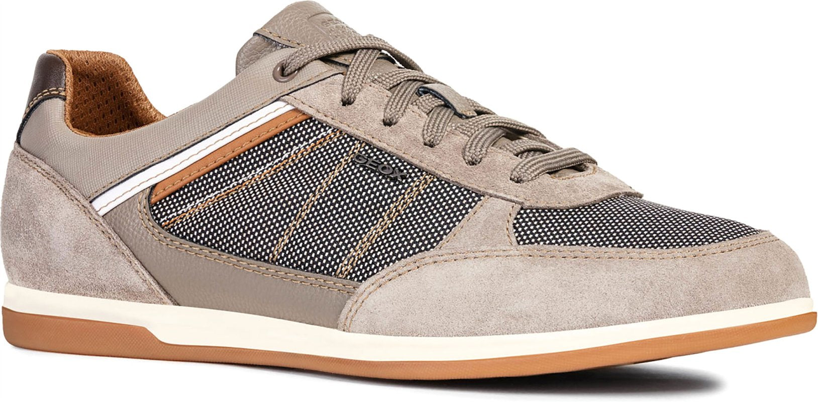 Geox Renan Suede and Textile Sneakers