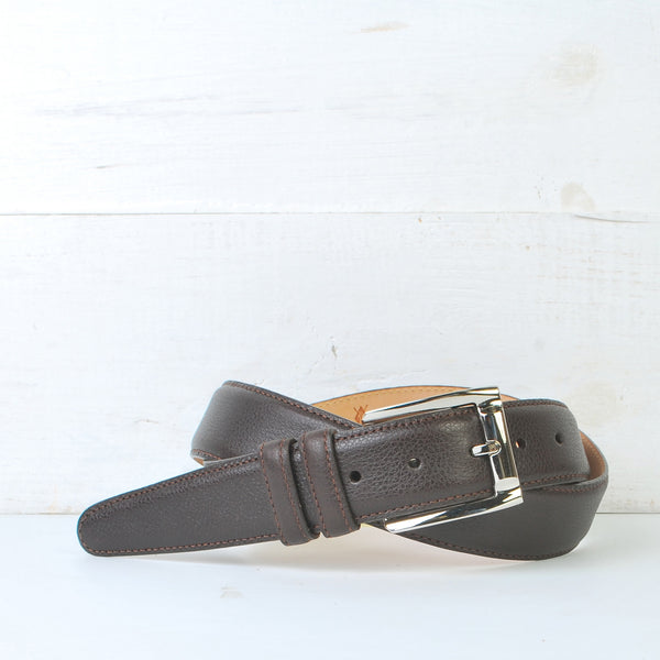Martin Dingman Warren Scotch Grain Leather Belt