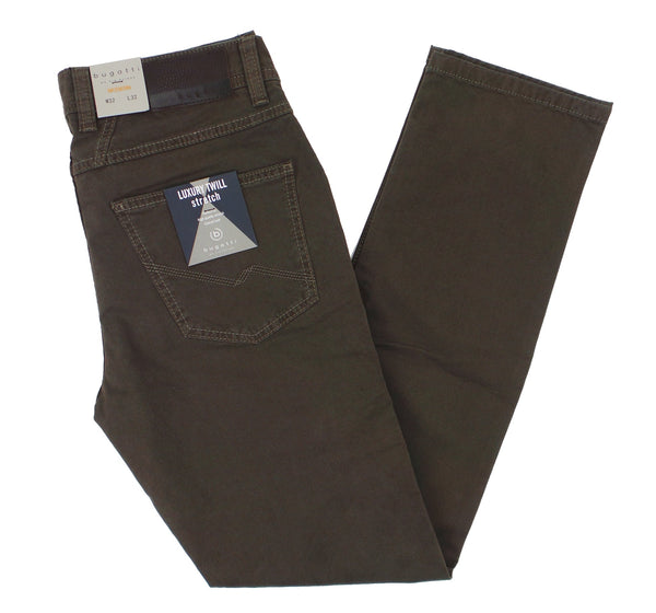 Bugatti Modern Fit Soft Luxury Twill Stretch 5 Pocket Pants