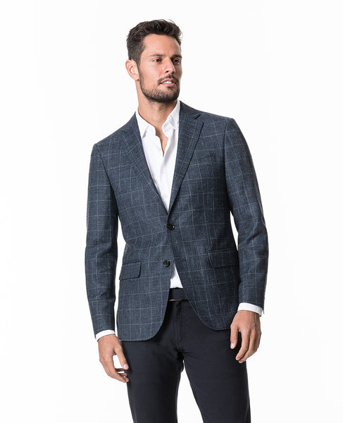 Rodd & Gunn Portland Spray Subtle Windowpane Soft Blazer