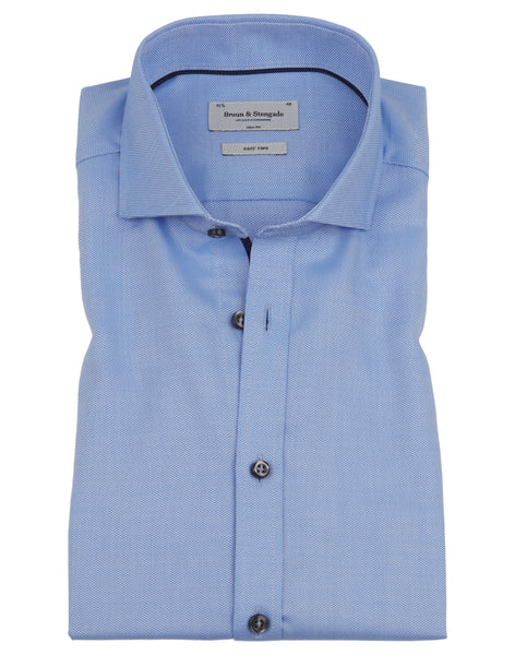 Bruun & Stengade Barlow Trim Fit Textured Solid Woven Shirt