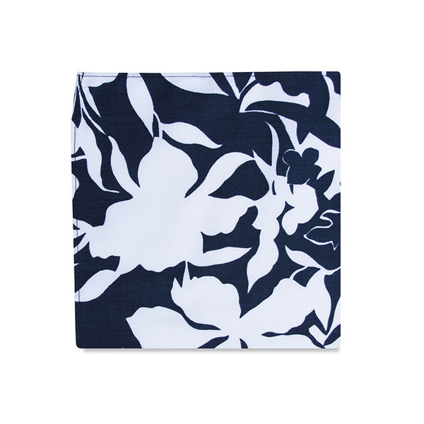 PSC Keoni Abstract Navy Cotton Pocket Square