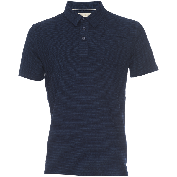 Nifty Genius Nicholas Soft Cotton Subtle Dobby Stripe Polo Shirt