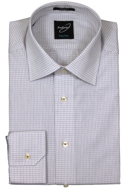 Andrew-J Stockholm Trim Fit Micro Check Dress Shirt