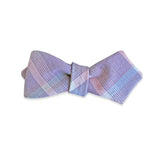 PSC Twain Light Plaid Linen Bow Tie