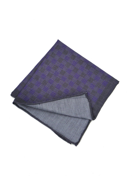 WRK Conrad Chambray Check Pocket Square