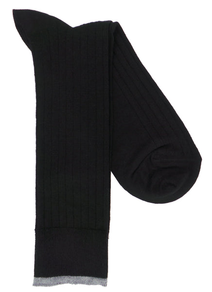 Lorenzo Uomo Merino Blend Ribbed Dress Socks